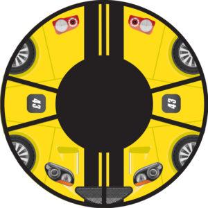 Ватрушка MSport 100 (ПВХ/ПВХ) принт